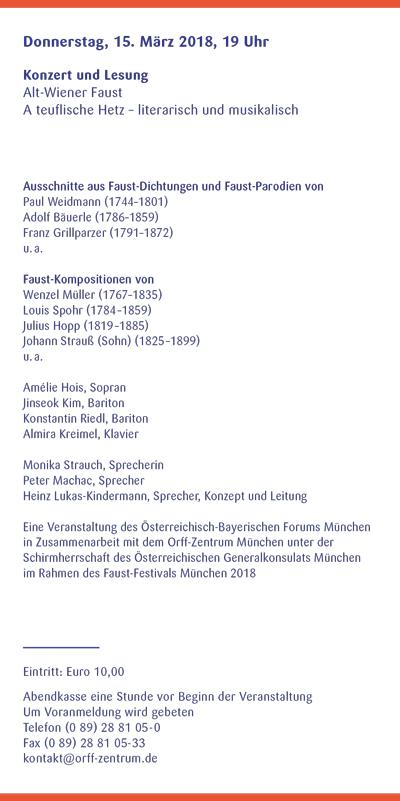 Orff-Zentrum München; Carl Orff; OZM; OZM Flyer 1/2018, Seite 3