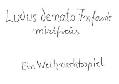 Ludus de nato Infante mirificus