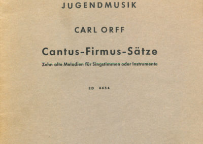 Jugendmusik – Cantus-Firmus-Sätze