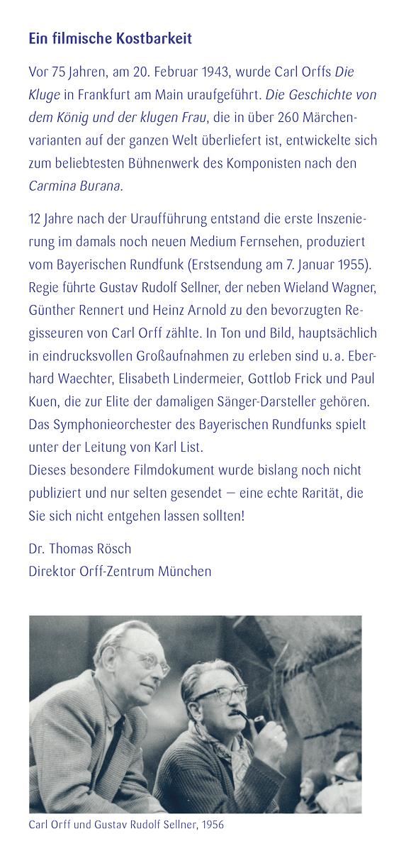 """Filmvorführung """"Die Kluge"""". Sonderflyer, Seite 3"""
