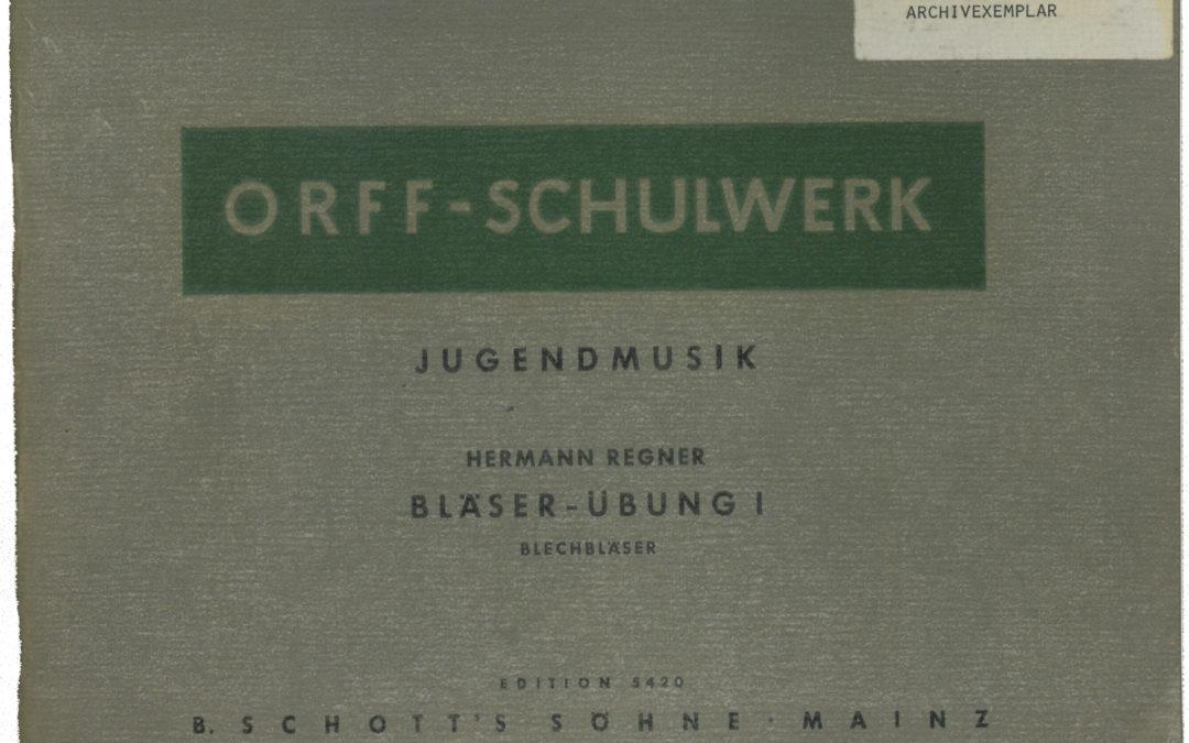 Jugendmusik – Bläser-Übung I
