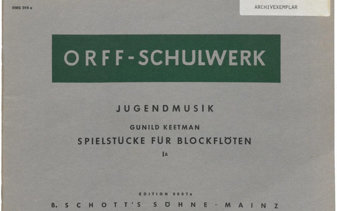 Jugendmusik – Spielstücke für Blockflöten – I A