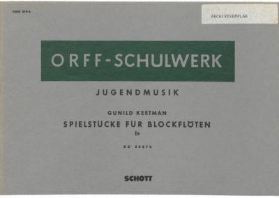 Jugendmusik – Spielstücke für Blockflöten – I B