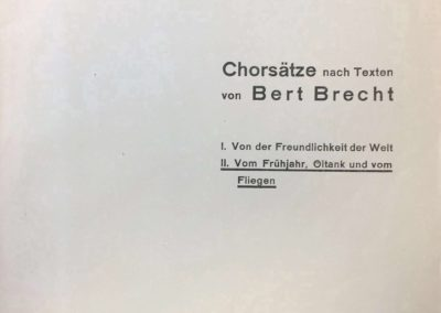 Kantaten nach Texten von Bert Brecht
