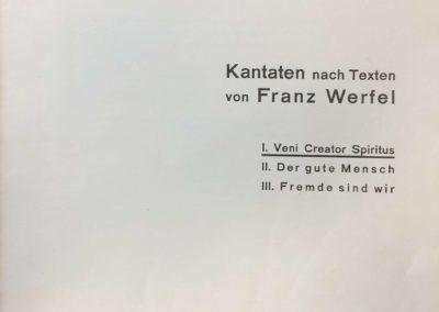 Kantaten nach Texten von Franz Werfel