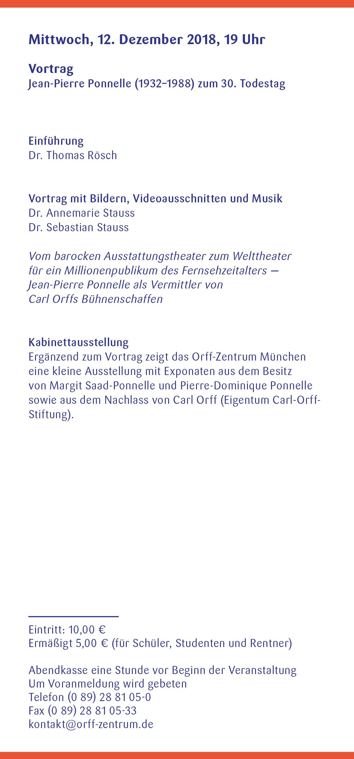 Orff-Zentrum München, Veranstaltungsflyer Nov.-Dez. 2018, Seite 4
