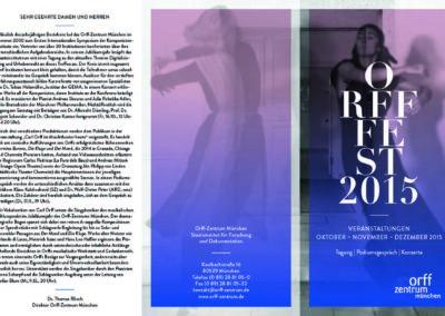 2015 Veranstaltungsflyer, Orff-Zentrum München, Seite 1