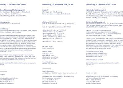 Orff-Zentrum München; Carl Orff; OZM; Veranstaltungsflyer, 3/2016, Orff-Zentrum München, Seite 3
