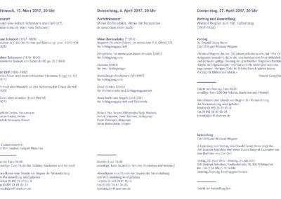 Veranstaltungsflyer, 1/2017, Orff-Zentrum München, Seite 2