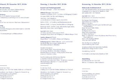 Veranstaltungsflyer, 3/2017, Orff-Zentrum München, Seite 2