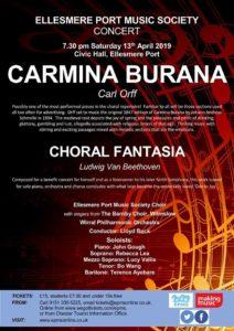 Carl Orff Carmina Burana England Ellesmere Port 2019