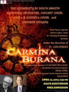 Carl Orff Carmina Burana USA Vermillion, SD 2019