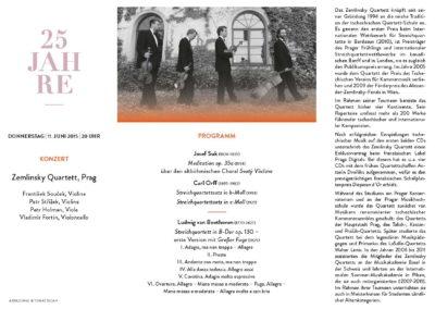 Sonderflyer 2015 Zemlinsky Quartett