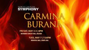 Carl Orff Carmina Burana USA Raleigh, NC Chapel Hill, NC 2019