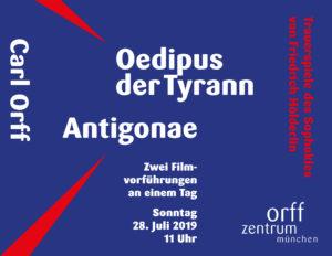 Filmvorführungen Oedipus der Tyrann & Antigonae @ Orff-Zentrum München | München | Bayern | Deutschland