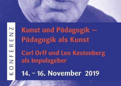 Flyer Konferenz »Kunst und Pädagogik — Pädagogik als Kunst Carl Orff und Leo Kestenberg als Impulsgeber«