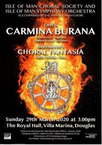Plakat_Carmina_Burana_29_03_2020_Europa_England_Isle_of_Man_Douglas
