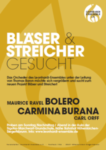 Carl Orff Carmina Burana Europa Deutschland Höhenkirchen-Siegertsbrunn 2020