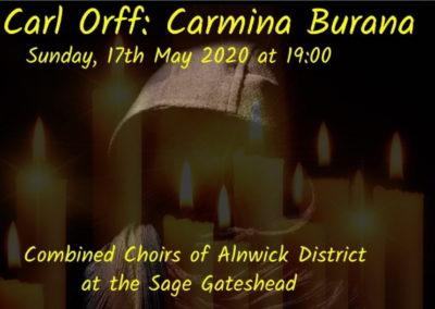 Carmina Burana (17.05.2020, 23.05.2021 / konzertant / Europa / England / Gateshead)